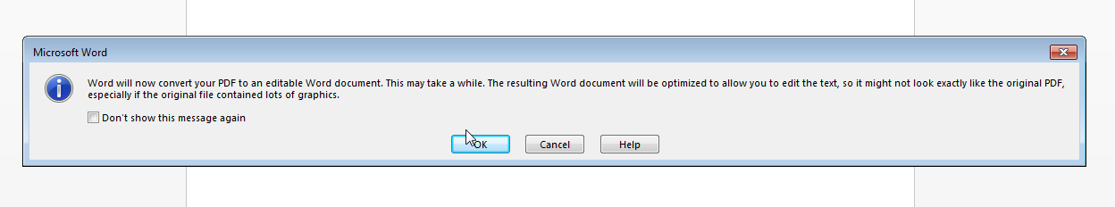 how to open a pdf file in publisher 2013